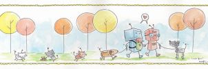 robot card by katiecandraw
