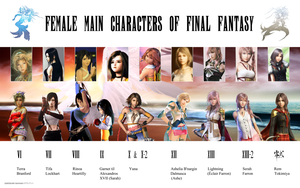 Female Main Characters Of Final Fantasy by DavienValentine