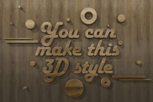 3d-text-style-Wood-experimentation by designercow