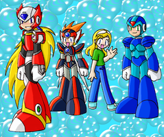 Mega Man X Bubbly Chibi Fun by SonicRocksMySocks