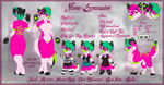 Current Fursona Ref by Flame-Expression