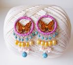 Butterfly Chandelier Bead Earrings by RetroRevivalBoutique