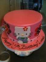 Pretty Pink Hello Kitty Cake by Spudnuts