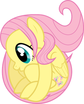 Fluttershy Being a Ball by uxyd