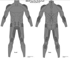 Halo 4 Spartan Undersuit Front Back Hex by Uratz-Studios