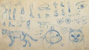 Cats + feet study, Artbuddy work #1 w/ Ravenwilder by aaqucnaona