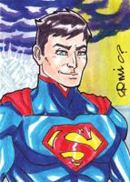 Justice League: War Superman ACEO by micQuestion