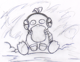 Psyduck in winter by red-whip-genocidie
