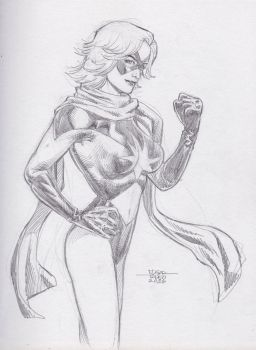 Miss Marvel - Pencil Sketch by edtadeo