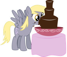 Derpy loves chocolate too by Schmuzart