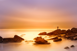 Lonely Fisherman by Rykardo