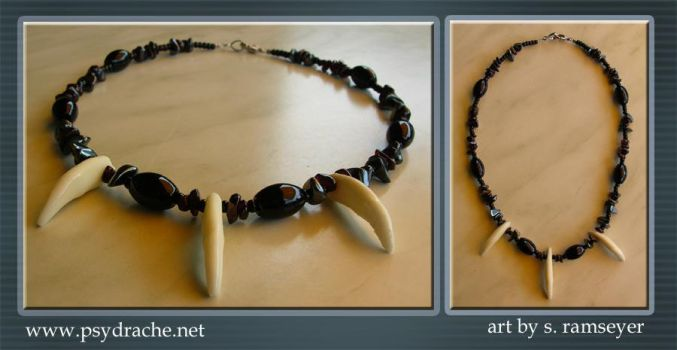 Coyote Fangs Necklace by Psydrache