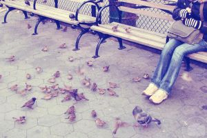 Bird lady. by Littography