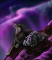 A Night on Mount Eyrie by MoonsongWolf