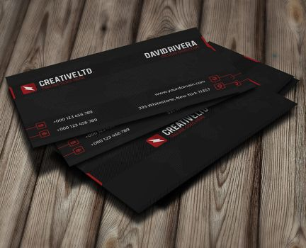 Free Business Card Template by GreyFoxGR