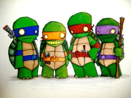 TEENAGE MUTANT NINJA TURTLES by UMINGA