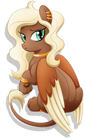 Commission: Vite the Sphinx Pony by LittleHybridShila