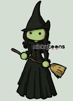 Wicked - Elphaba by NickyToons