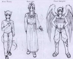 T.O.D. character sketches1 by Modified-Rabbit