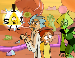Rick and Morty in Dorito Land by smeriic