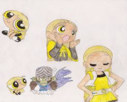 My ppg oc Bee by Graystripe24