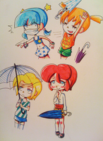 Casual wear and umbrellas by VooDooDollMaster