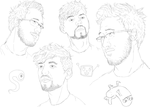 Mark and Sean sketches by AllexanderAnderson