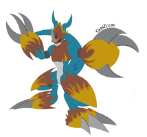 Flamedramon Full Armor by GunZcon