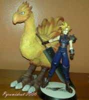 Chocobo Sculpture with Cloud by Pyramidcat