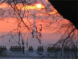 Sunset in Paris by Tanpopo89