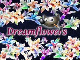 Dream flowers GIMP Brush by brushesfreedow