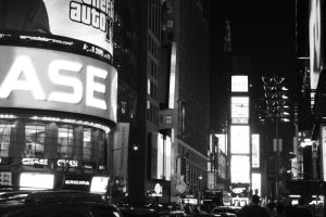 times square black-and-white by wishpaper