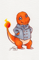 Dandy Charmander by zombieblood