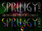 Springy Fancy Font by vidka