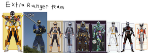 Extra Rangers team by goldranger91