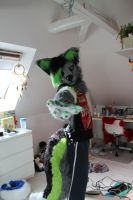 Fursuit partial for sale! !SOLD! by WithCandyDancing