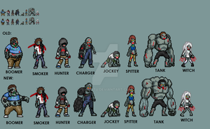 LEFT 4 DEAD Special Infected JUS sprites by yurestu