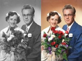 Old Wedding in Colour by Mygrapefruit