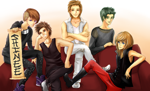 SHINee collab with Emilky-chan by FimbulvetrIce