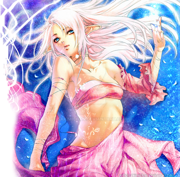 .Angelic Lady Elf Under WAtEr. by sakimichan