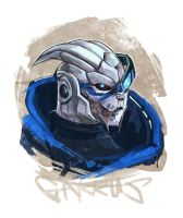 Garrus Sketch by Derlaine8
