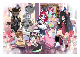 Lolita Teaparty  By Lits by Lorna-RoseFoX