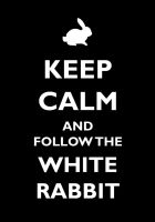 Keep calm and follow the white rabbit by CisoXP