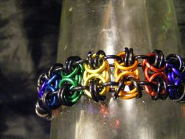 BTB rainbow bracelet by BacktoEarthCreations