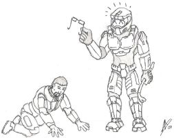 Freeman Vs. Chief by DeaDenDdk