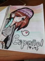 Random drawing - My cover of Spanish by Usagi-Lau