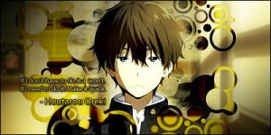 Houtarou Oreki from Hyouka by SkyWeed