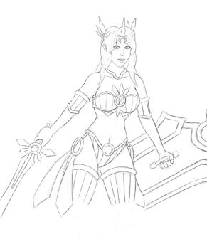 the kinda better leona then the coloured one.... by Xiravian