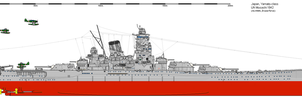 IJN Musashi 1942 Commissioning by Erusia-Force