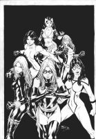 Marvel girls by Fredbenes